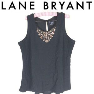 Lane Bryant stone detail key hole tank top size 18